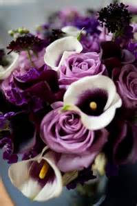 Deep Purple Rose Wedding Bouquet