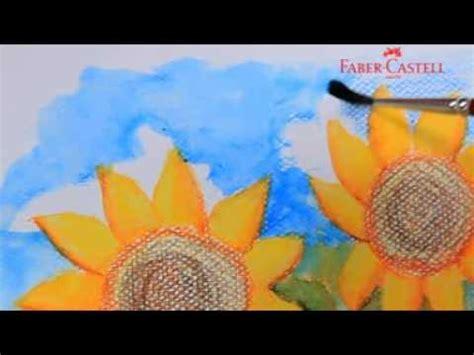 cat akrilik faber castell faber castell watercolour pencil teknik sponge funnycat tv