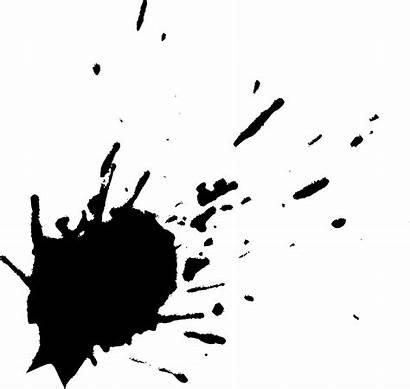 Splatter Ink Paint Transparent Splatters Background Splash