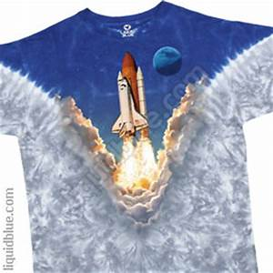 SPACE SHUTTLE - SPACE - T-SHIRT - Liquid Blue