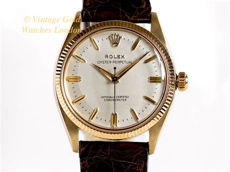 rolex oyster perpetual 9k 1954 vintage gold watches