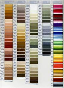DMC Floss Color Chart Numbers