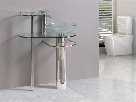 bathroom vanity with sink and faucet modern bathroom vanities pedestal vessel glass furniture