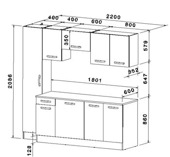 dimensions meubles cuisine ikea meubles de cuisine 7 éléments gris alu et blanc cbc meubles