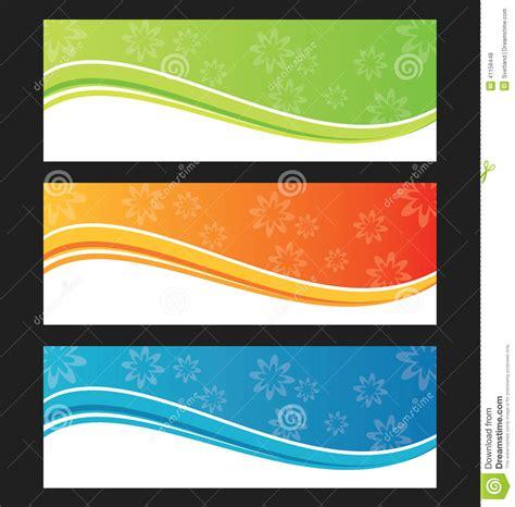 set  wave background banner  header stock vector
