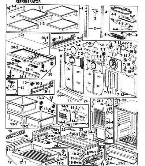 samsung model rfabwpxaa  bottom mount refrigerator repair replacement parts