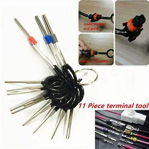 11pc Terminal Removal Car Key Tool Wiring Connector Pin