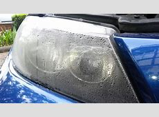 Misted headlights bmw 320d e90 before YouTube