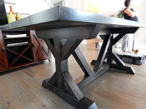 chavers  base rustic trestle table