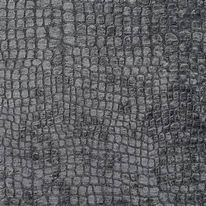 - Grey Alligator Print Shiny Woven Velvet Upholstery