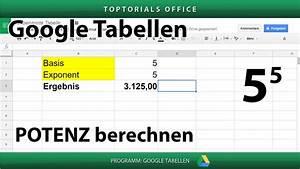 Laufstrecke Berechnen Google Maps : potenzen berechnen mit potenz google tabellen spreadsheets toptorials ~ Themetempest.com Abrechnung
