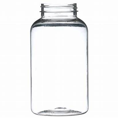 Pet Packer Neck Plastic Round Clear Finish