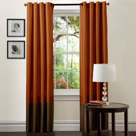 rust drapes prima brown rust window curtains pair 54 quot x 84