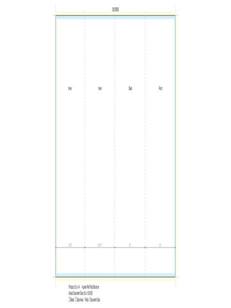 panel brochure template   templates   word