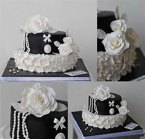 Vintage Black And White - CakeCentral.com