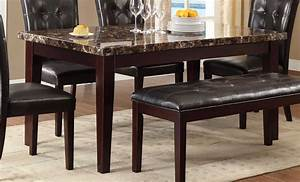 homelegance teague faux marble dining table espresso With dine your diner on marble dining table