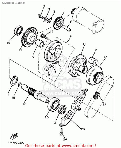 Wiring Diagram Virago Bobber by Yamaha Xj750r Seca 1983 D Usa Starter Clutch Buy