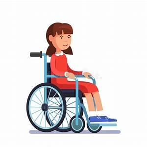 Fauteuil Enfant Fille : enfant handicap mignon de fille s 39 asseyant dans un fauteuil roulant illustration de vecteur ~ Teatrodelosmanantiales.com Idées de Décoration