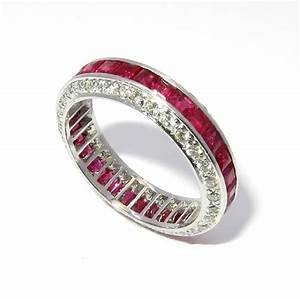 ruby diamond wedding band unique wedding band With diamond and ruby wedding rings