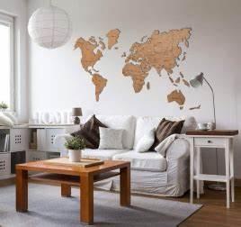 Decoration Murale Carte Du Monde : deco bois mural ~ Teatrodelosmanantiales.com Idées de Décoration
