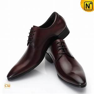 Mens Distressed Leather Oxford Dress Shoes CW762011