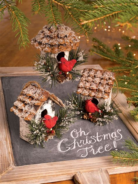 cardinal birdhouse ornaments set   gardeners supply