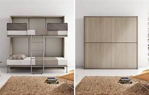 Lit Gain De Place : lit escamotable canape lit 13 gain de place ~ Premium-room.com Idées de Décoration