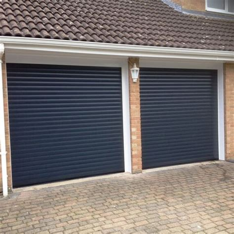 Pair Of Thermaglide 77 Roller Garage Door In Anthracite