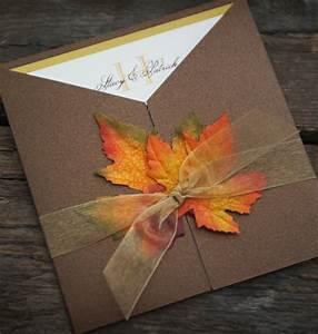 Fall wedding invitation custom sample by eminvitations on etsy for Etsy autumn wedding invitations