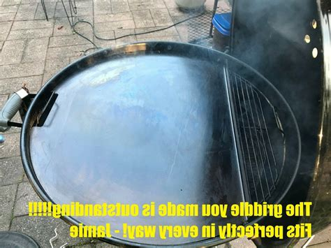 griddle plate  weber kettle charcoal grill
