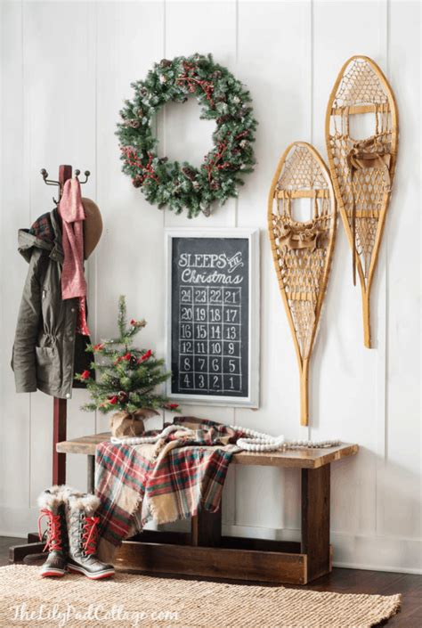 cozy ski lodge inspired christmas   lilypad cottage