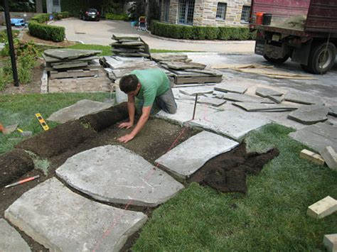 installing lawn how to install a flagstone path in a lawn landscapeadvisor