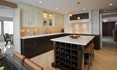 light hardwood floors brown kitchen cabinets