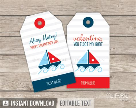 Boat Tags by S Day Tags Printable Nautical Theme My