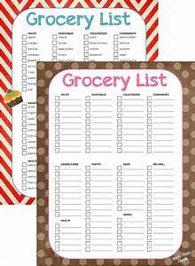 Blank Printable Grocery List Template | Printable template ...
