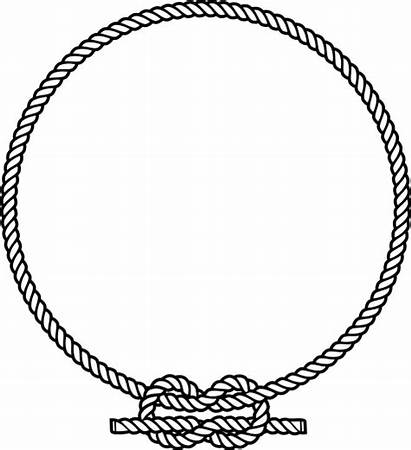 Rope Clipart Circle Knot Ring Vectors Round