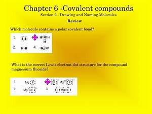 Ppt - Chapter 6 -covalent Compounds Section 2