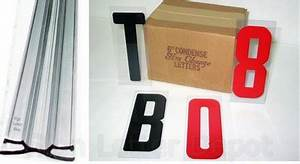 6quot condensed letters and sign track kit for Sign letter track kit