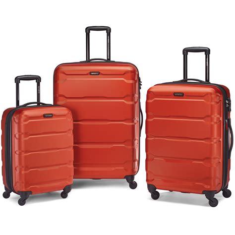 Samsonite orange luggage