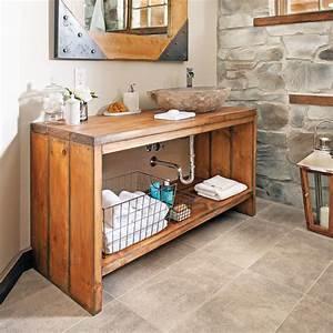 pin un meuble bar avec rangement realisation d habillage With meuble lavabo bois