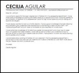 cleaner resume cover letter sle cover letter for a cleaner cover letters livecareer