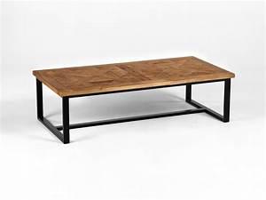 Table Basse Bois Metal : table basse metal et bois table basse ikea maisonjoffrois ~ Teatrodelosmanantiales.com Idées de Décoration