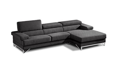 Gray Modern Sofa by Coburn Modern Grey Fabric Sectional Sofa