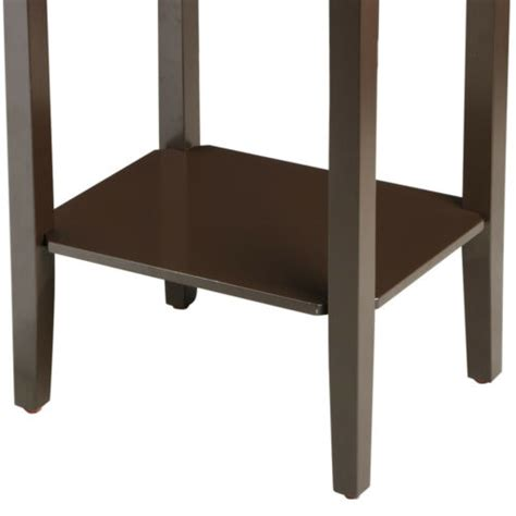 tall wood side  coffee table bedside nightstand tables