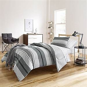kyle dorm comforter kit in grey bed bath beyond With bed bath and beyond college bedding