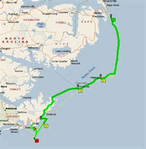 Outer Banks National Seashore NC Map