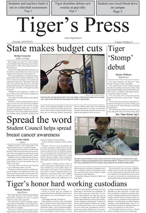 Make your news more interesting and entertaining. Akins PhotoJ Blog: Newspaper Design Examples