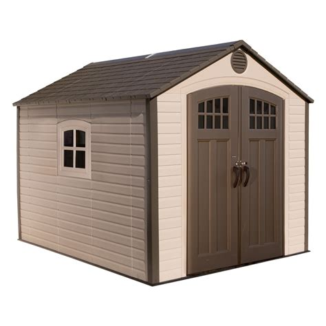 plastic sheds lowes lifetime products common 8 ft x 10 ft actual interior