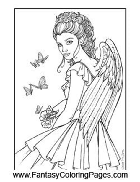 22 best Fairy and angel coloring pages images on Pinterest
