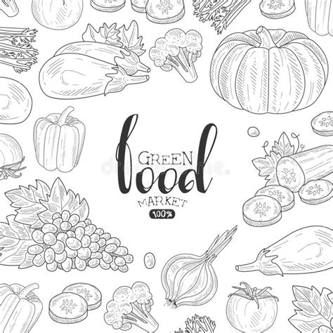 Green Food Market Banner Template, Can Be Used For Organic ...